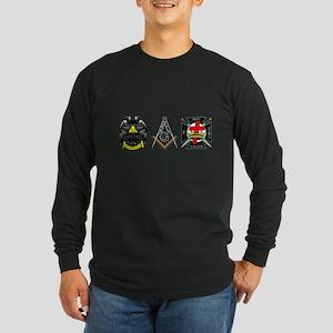 Multiple Masonic Bodies Long Sleeve Dark T-Shirt