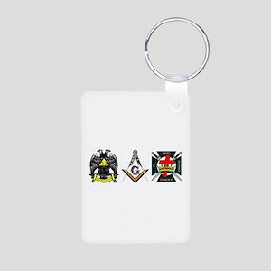Multiple Masonic Bodies Aluminum Photo Keychain