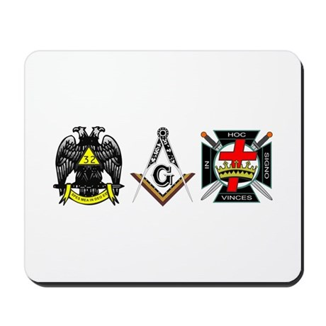 Multiple Masonic Bodies Mousepad