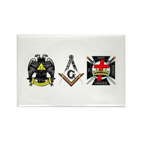 Multiple Masonic Bodies Rectangle Magnet