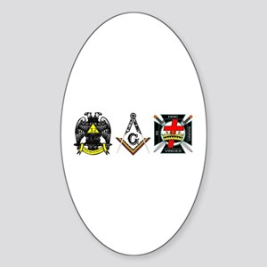Multiple Masonic Bodies Sticker (Oval)