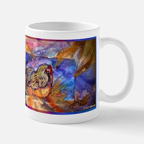 Chicken, colorful, art, Mug