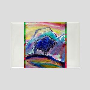 Buffalo, bright, Rectangle Magnet
