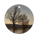 Two Against the Cold Ornament (Round)