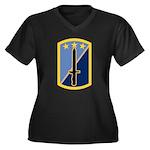 170th Infantry BCT Women's Plus Size V-Neck Dark T