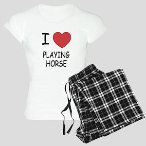 i heart playing horse Women's Light Pajamas