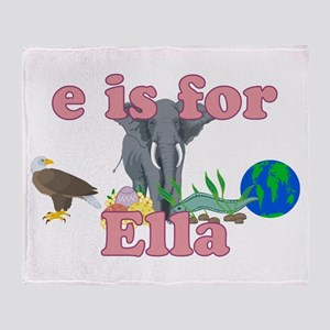 E is for Ella Throw Blanket