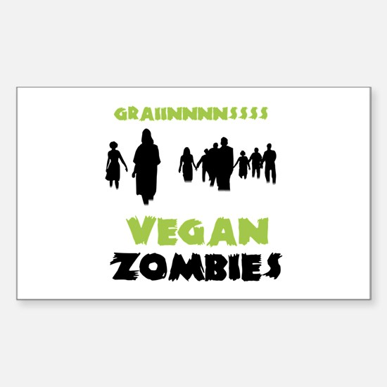 Vegan Zombies Sticker (Rectangle)