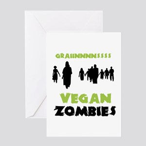 Vegan Zombies Greeting Card
