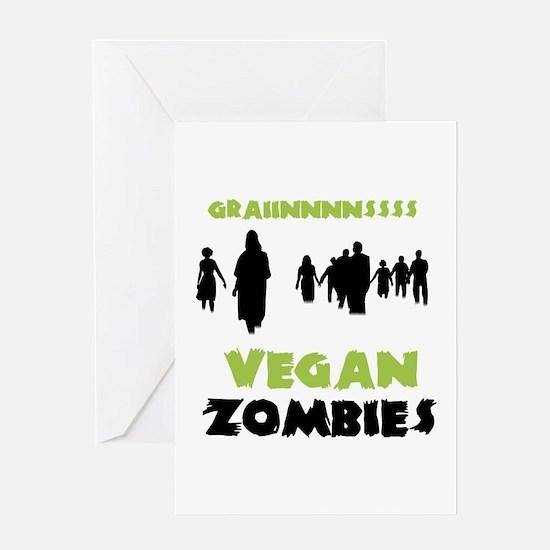 Vegan Zombies Greeting Card