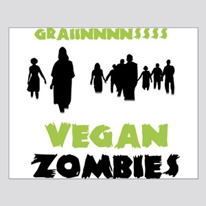 Vegan Zombies Small Poster