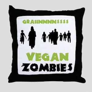 Vegan Zombies Throw Pillow
