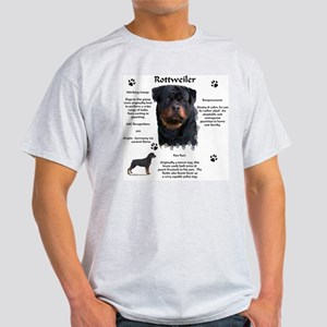 Rottie 1 Ash Grey T-Shirt