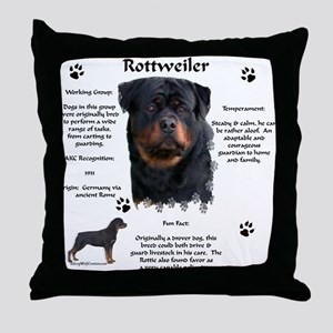 Rottie 1 Throw Pillow
