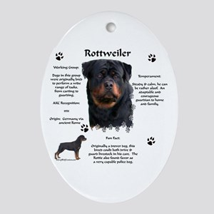 Rottie 1 Oval Ornament