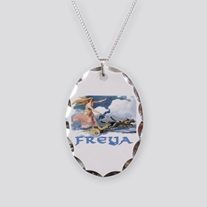 Freya Necklace Oval Charm