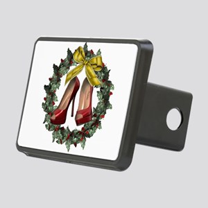 Red Stiletto Shoe Christma Rectangular Hitch Cover