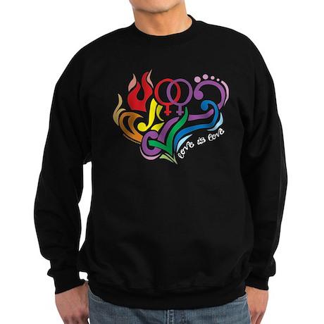 LGBT Lesbian: Love Is Love Sweatshirt (dark)