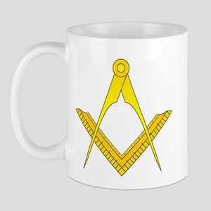 English Style Square and Compass Mug