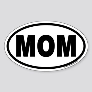 MOM Euro Oval Mother's Day Sticker