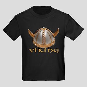 Viking Horns Kids Dark T-Shirt