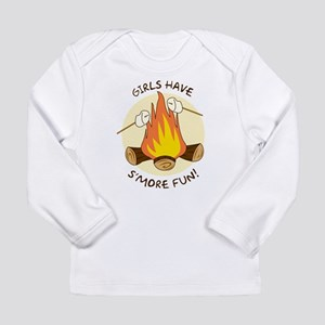 """Girls Have S'more Fun"" Long Sleeve Infant T-Shirt"