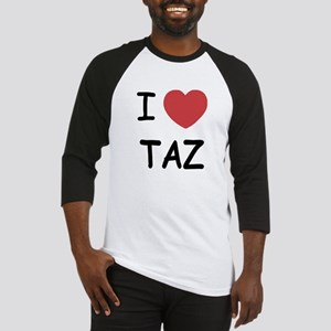 I heart taz Baseball Jersey
