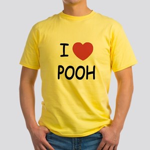 I heart pooh Yellow T-Shirt