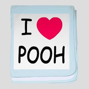 I heart pooh baby blanket