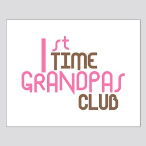 1st Time Grandpas Club (Pink) Small Poster