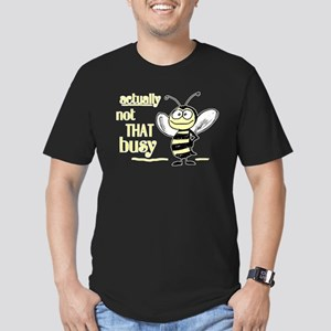 Not That Busy Bee Men's Fitted T-Shirt (dark)