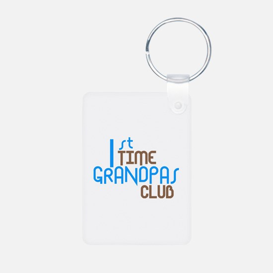 1st Time Grandpas Club (Blue) Keychains