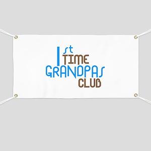 1st Time Grandpas Club (Blue) Banner