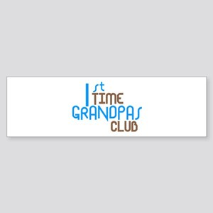 1st Time Grandpas Club (Blue) Sticker (Bumper)