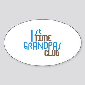 1st Time Grandpas Club (Blue) Sticker (Oval)