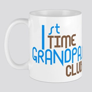 1st Time Grandpas Club (Blue) Mug