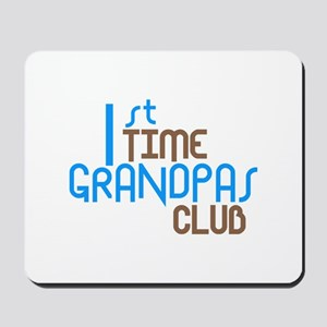 1st Time Grandpas Club (Blue) Mousepad