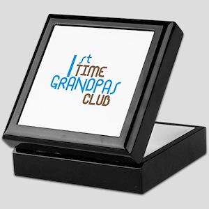 1st Time Grandpas Club (Blue) Keepsake Box