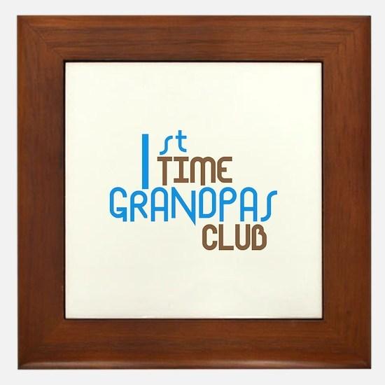 1st Time Grandpas Club (Blue) Framed Tile