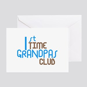 1st Time Grandpas Club (Blue) Greeting Card