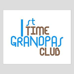 1st Time Grandpas Club (Blue) Small Poster