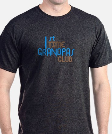 1st Time Grandpas Club (Blue) T-Shirt