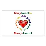 Maryland is Marry-Land Sticker (Rectangle 10 pk)