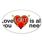 Maryland is Marry-Land Sticker (Oval 10 pk)
