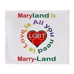 Maryland is Marry-Land Throw Blanket