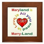 Maryland is Marry-Land Framed Tile
