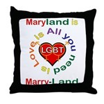 Maryland is Marry-Land Throw Pillow