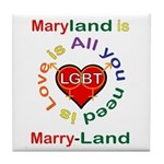 Maryland is Marry-Land Tile Coaster