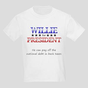 Willie For President Kids Light T-Shirt