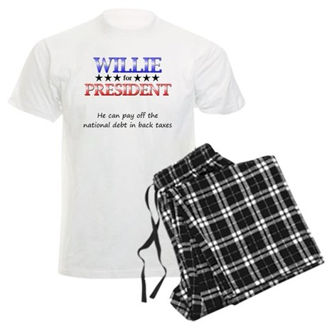 Willie For President Men's Light Pajamas